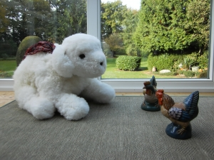Großer Hund aus Schaffellen, kuscheliger Spielgefährte für Klein und Groß