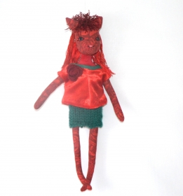 Stoffpuppe,Puppe,rag doll,cat doll,Katzenpuppe