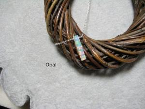 Opalkette, Opal Stäbchen, Jelly Opal, Opal weiß, Goldfilled, Rosegoldfilled, 925 Silber, minimalistisch, Edelstein - Handarbeit kaufen