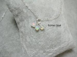 Opalkette, Welo Opale, Runde Opalperlen, 925 Silber, Gold Filled, Rosegold Filled, natürlich, zierlich, minimalistisch, Edelsteinkette - Handarbeit kaufen