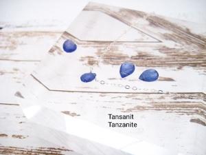 Tansanit-Kette, Geburtsstein Dezember, Tansanit Tropfen, Anhänger klein, 925 Silber, Gold Filled, Rosegold Filled, minimalistisch, Edelstein - Handarbeit kaufen