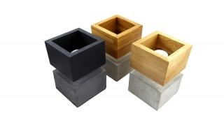 CUBUS Lux Beton Lampe-Leuchte Boden oder Tischlampe