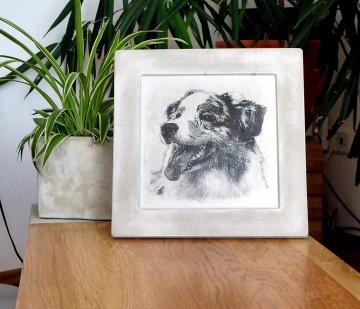 Dein Foto - Fotodruck Bilderdruck mit deinem Tier oder nur Du, oder als Gruppe?  Auf Betonbilderrahmen!