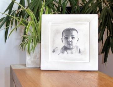 Baby - Kinder - Eltern Fotodruck Bilderdruck auf Beton, Dein Foto vom Baby oder Kind auf Beton.
