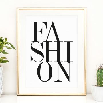 Fashion Poster, Kunstdruck für den begehbaren Kleiderschrank, Wandbild für's Schlafzimmer: Fashion
