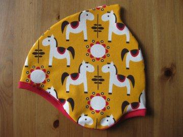 Bio Mütze Pferde gelb, Herbst, Kinder & Baby, Pony, Horses
