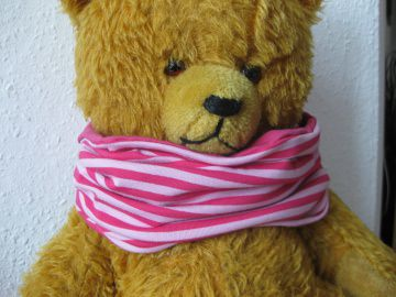 Bio Halssocke Ringel rosa - pink, Herbst, Loop, Kinder & Baby, Streifen, gestreift