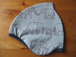 Bio Mütze Elefanten blaugrau, Frühling & Herbst, Kinder & Baby, Elefantenparade, Elephants