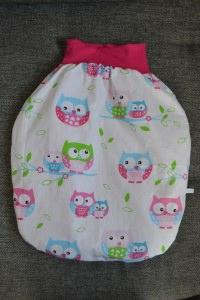 Pucksack Schlafsack Sommerschlafsack Baby  Geschenk ungefüttert  - Eulen - Handarbeit kaufen