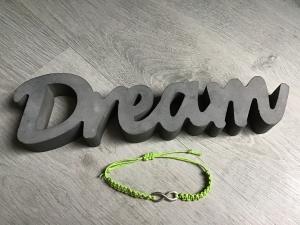 Macrame ♥ Armband ♥ Geschenk ♥ Muttertag ♥ Geburt ♥ Prüfung ♥ Unikat - Infinity  mint - Handarbeit kaufen