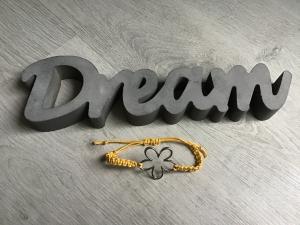 Macrame ♥ Armband ♥ Geschenk ♥ Muttertag ♥ Geburt ♥ Prüfung ♥ Unikat - Blume - gelb - Handarbeit kaufen