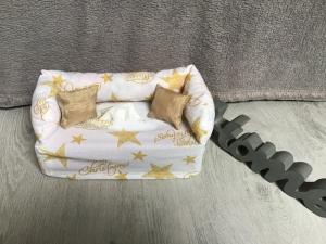 Deko-Sofa ,Kosmetikbox Sofa ,Taschentücherbox Sofa -  Weihnachten gold - Handarbeit kaufen