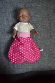 Puppenschlafsack Puppenmutter  Pucksack Schlafsack Geschenk - Sterne pink - Handarbeit kaufen