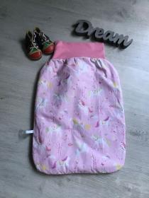 Pucksack Schlafsack Sommerschlafsack Baby  Geschenk ungefüttert  -  Einhorn - Handarbeit kaufen