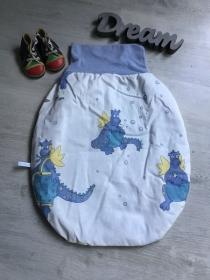 Pucksack Schlafsack Fußsack Baby  ungefüttert -  Dinos - Handarbeit kaufen