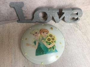 Kinderlampe Wandlampe Deckenlampe Lampe - Anna & Elsa grün - Handarbeit kaufen