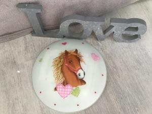 Kinderlampe Wandlampe Deckenlampe Lampe - Pferd mit Herz - Handarbeit kaufen