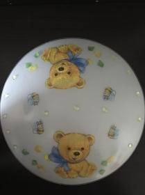 Kinderlampe Wandlampe Deckenlampe Lampe Baby - Bärchen Teddy hellblau
