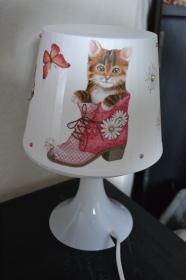 Nachttischlampe Kinderlampe  Lampe Baby - Katze im Stiefel - Handarbeit kaufen
