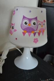 Nachttischlampe Kinderlampe  Lampe Baby - Eulen - Handarbeit kaufen