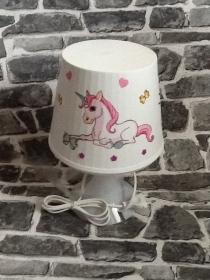 Nachttischlampe Kinderlampe  Lampe Baby - Einhorn liegend - Handarbeit kaufen