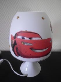 Nachttischlampe Kinderlampe  Lampe Baby klein -  Autos Cars - Handarbeit kaufen