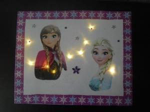 Wandlampe ☆ Wandleuchte ☆ beleuchteter Keilrahmen ☆ Nachtlicht - Anna und Elsa - Handarbeit kaufen