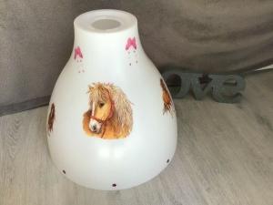 Kinderlampe Deckenlampe Hängelampe Lampe - Pferd mit Schmetterlingen - Handarbeit kaufen