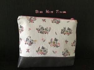 Kulturtasche  ❤️ Mädchen ❤️ Unikat - Waschbär/Eichhörnchen - Handarbeit kaufen