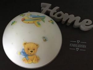 Kinderlampe Wandlampe Deckenlampe Lampe Baby - Bärchen Teddy Flugzeug - Handarbeit kaufen