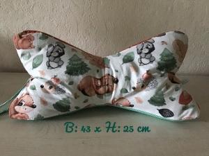 Leseknochen mit Griff ♥ Nackenkissen ♥ Rückenkissen ♥️ Lagerungskissen ♥    Reisekisse ♥ Unikat - Bär Hase Igel  - Handarbeit kaufen