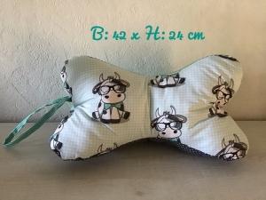 Leseknochen mit Griff ♥ Nackenkissen ♥ Rückenkissen ♥️ Lagerungskissen ♥️ Reisekissen  ♥  Unikat - Kuh