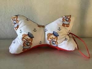 Leseknochen mit Griff ♥ Nackenkissen ♥ Rückenkissen ♥️ Lagerungskissen ♥️ Reisekissen  ♥  Unikat - Teddybär