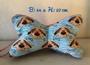 Leseknochen mit Griff ♥ Nackenkissen ♥ Rückenkissen ♥️ Lagerungskissen ♥️Reisekissen  ♥  Unikat - Hund Schlappi