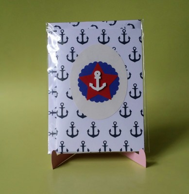 Grußkarte mit Anker