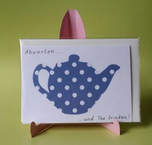 Grußkarte mit Teekanne