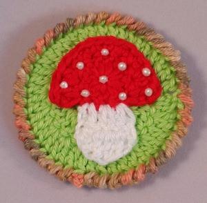 Gehäkelter Aufnäher - Pilz