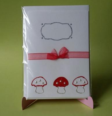Grußkarte mit Pilzen