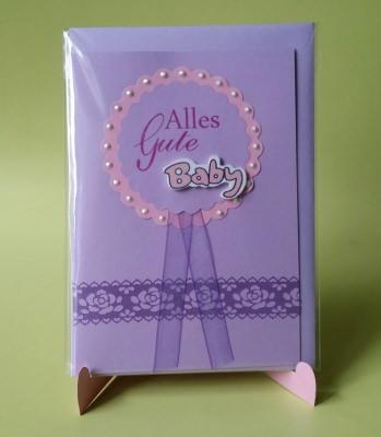 Grußkarte zur Geburt für Mädchen