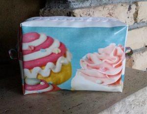 Wachstuchtasche - Cupcake