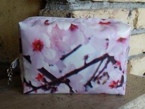 Wachstuchtasche - Kirschblüten