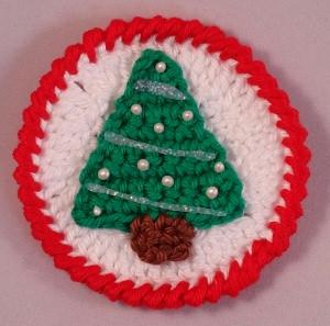 Gehäkelter Aufnäher - Weihnachtsbaum