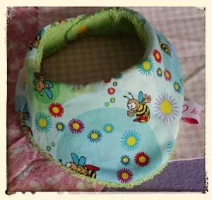 Halstuch für Babys und Kleinkinder - Bienchen