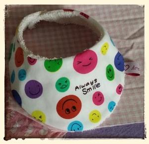 Halstuch für Babys und Kleinkinder - Smileys