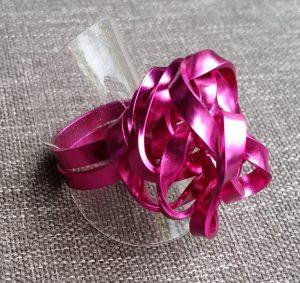 Ring aus Aluminiumdraht, Gr. 60