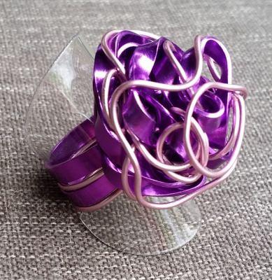 Ring aus Aluminiumdraht, Gr. 52