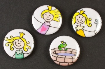 Button - Set: Prinzessin (2) ~ 25mm  - Handarbeit kaufen
