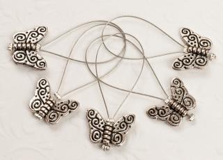 5 Maschenmarkierer: Schmetterlinge  - Handarbeit kaufen