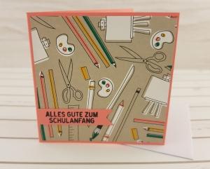 Mini-Grußkarte zur Einschulung - Handarbeit kaufen