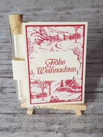 Wunscherfüllerkarte zu Weihnachten: Landhausweihnacht (01)